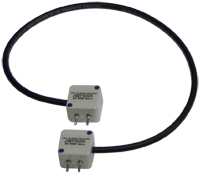 Solar Type 2806-1M coaxial cable with banana plug connectors
